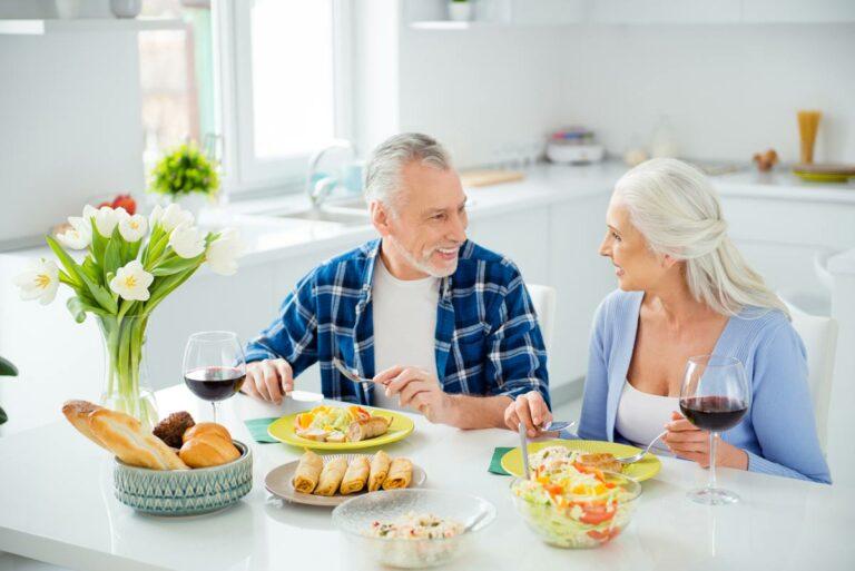 The Philomena   Senior couple eating lunch