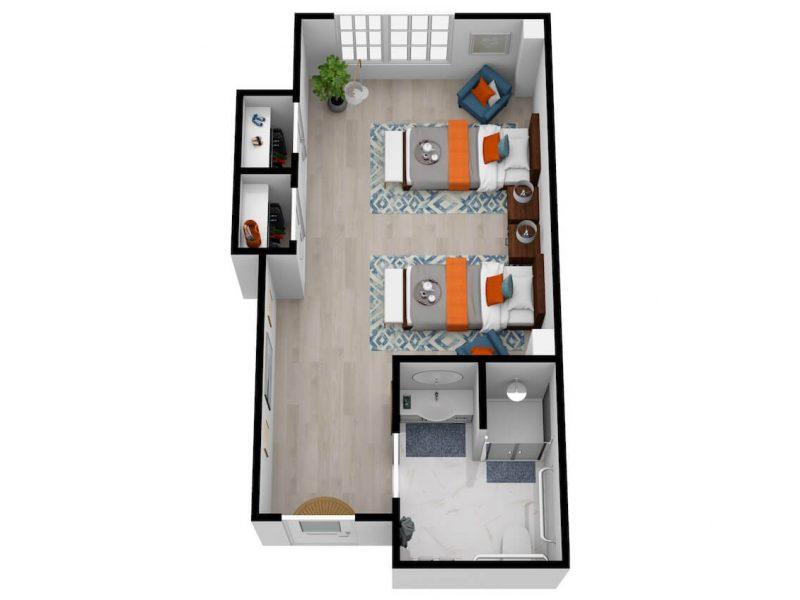 The Philomena | Semi-Private Bedroom
